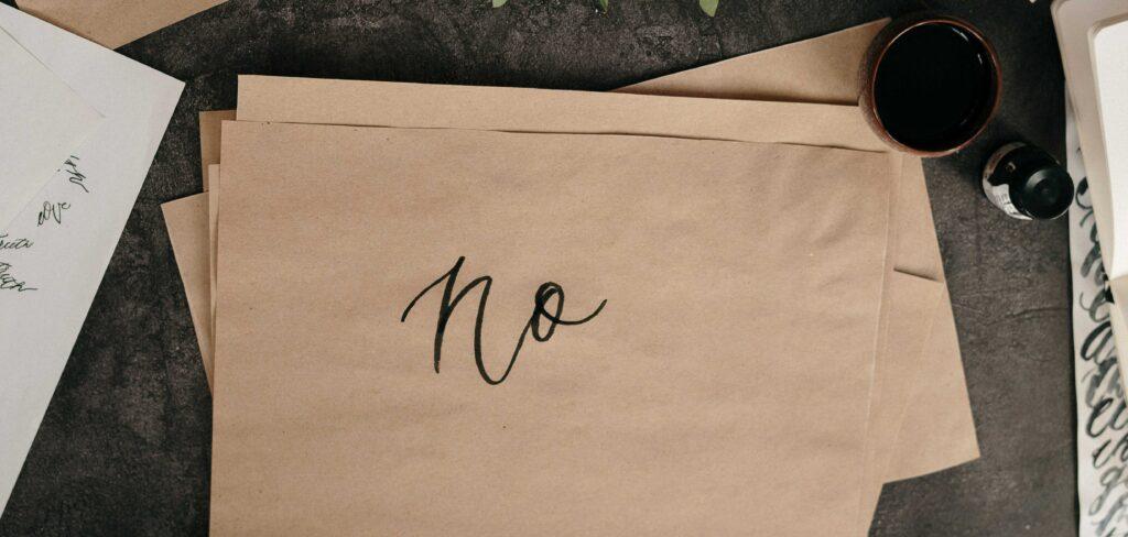 "come essere più produttivi: imparando a dire ""No"""